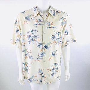 Tori Richard Floral Silk Blend Hawaiian Shirt Sz L